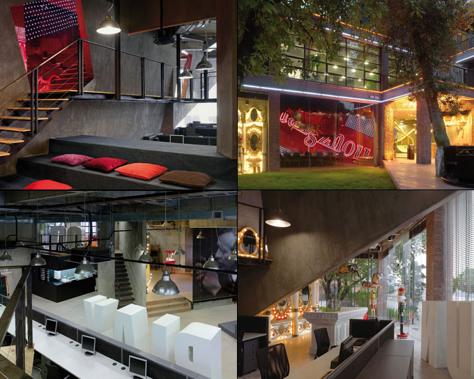 Touchey 4 creative workplaces designs for Interior design office inspiration